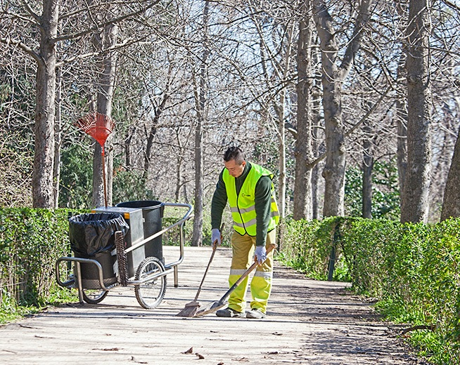 Maintenance of parks in Madrid