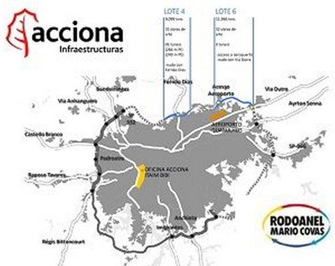 ACCIONA will build a 25km section of one of the biggest roadways in São Paulo (Brazil)