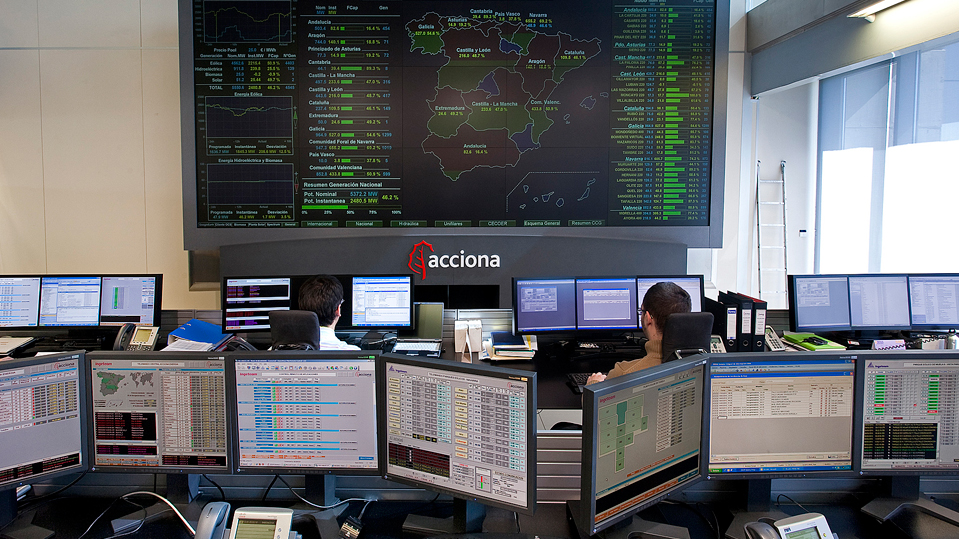 The Renewable Energy Control Centre of ACCIONA is one of the largest in the world