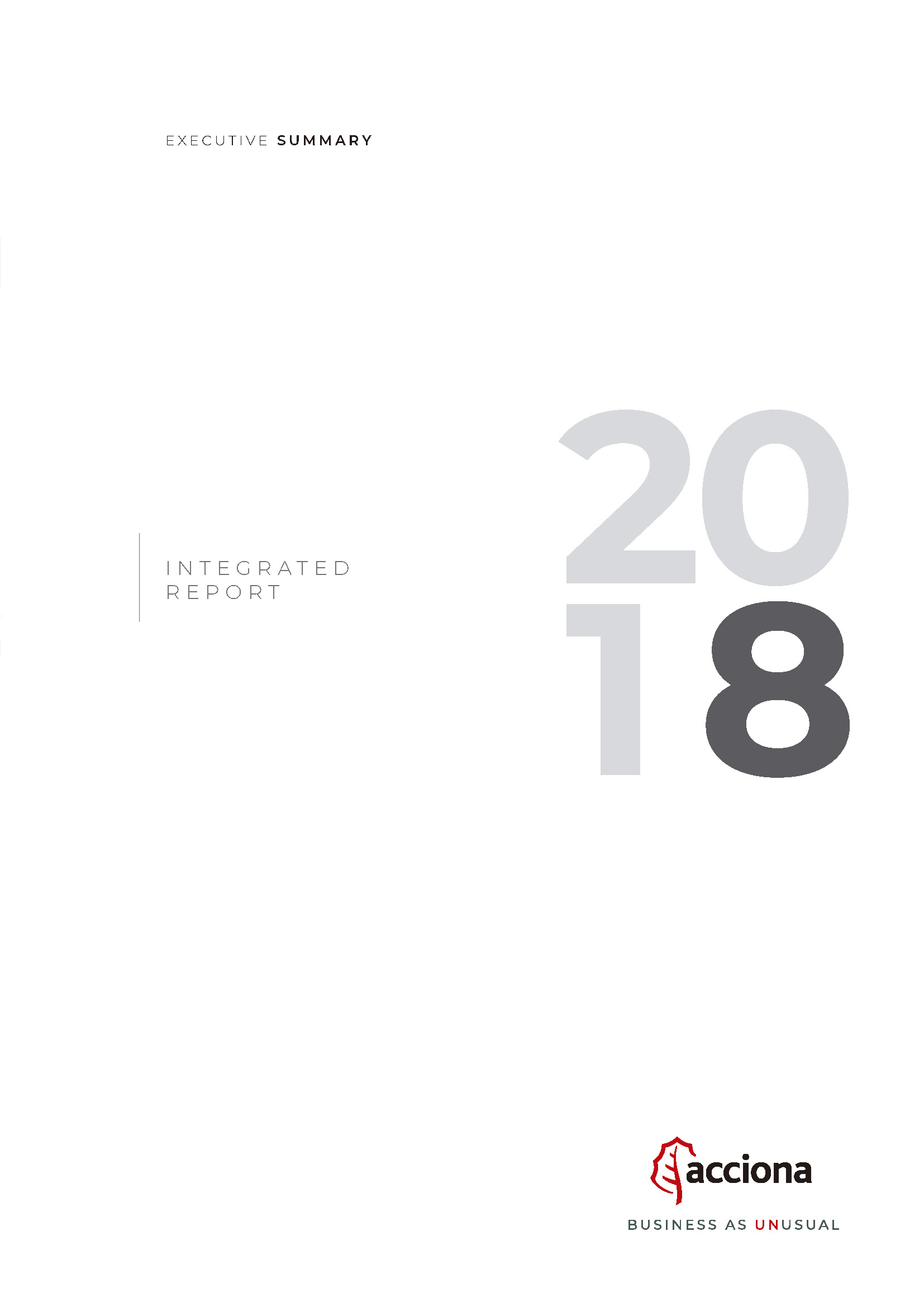 annual report 2018 Executive Summary
