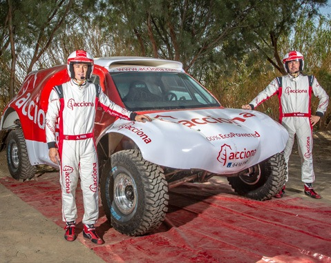ACCIONA presents the first zero-emissions electric car for the Dakar Rally at Conama