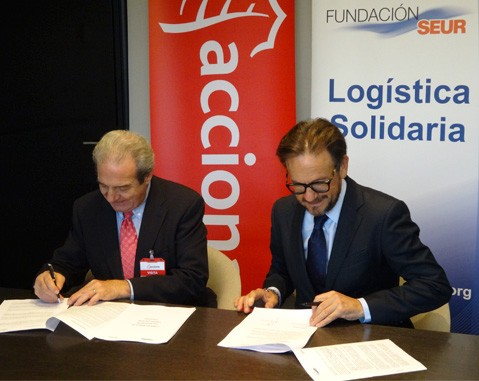 "ACCIONA signs a collaboration agreement with SEUR Foundation for the ""Plastic caps for a new life"" project"