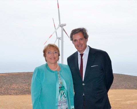 ACCIONA Energía inaugurates its first wind farm in Chile and confirms major investments in the country over the next few years