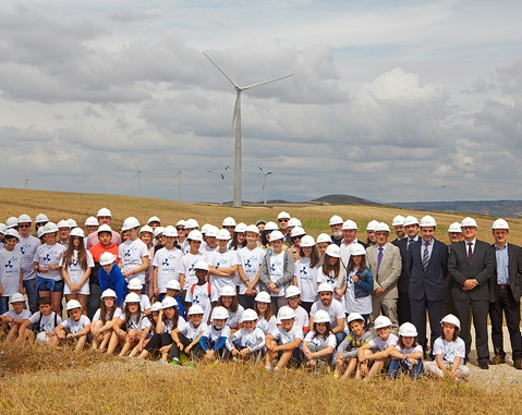 ACCIONA's wind farms in Falces play host to key events on Global Wind Day 2015 in Spain