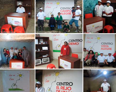 Opening of the 'Centros Luz en Casa'