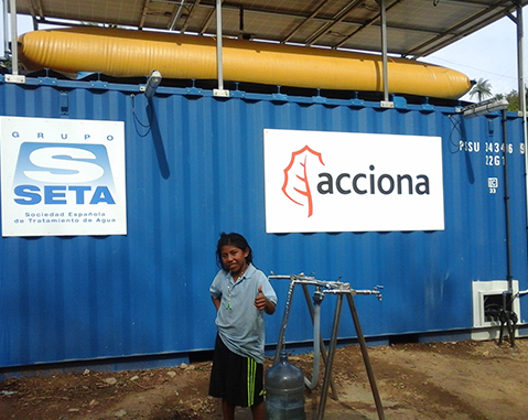 ACCIONA starts up the drinking water plant that will ensure the water supply for the Wiwa de Seyamake Community