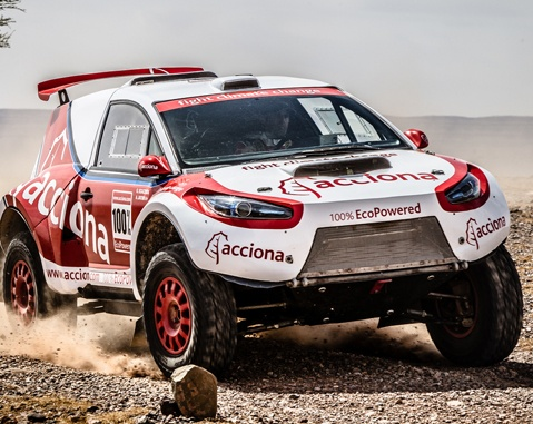 The ACCIONA, at the halfway point of the Dakar Rally 2016