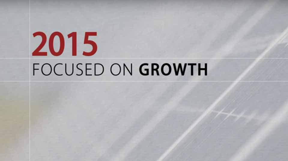 ACCIONA Energía in 2015: Focused on growth