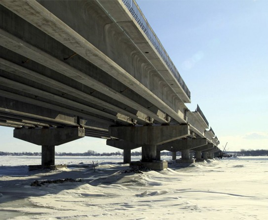 A30 highway bridge in Canada