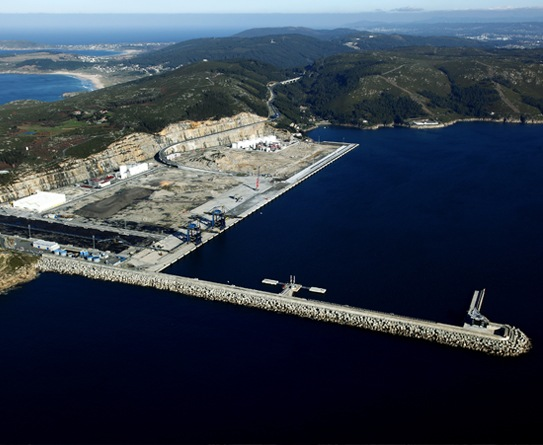 El Ferrol port in Spain