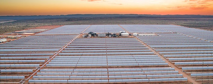 ACCIONA, Sener and TSK built solar power plant in South