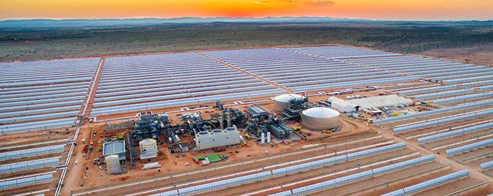 ACCIONA, Sener and TSK built solar power plant in South