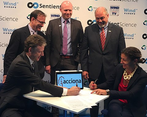 ACCIONA Energía signs agreement with Sentient Science to extend the working life of its global wind turbine fleet