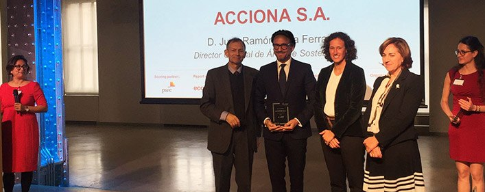 ACCIONA again leads the fight against climate change by business