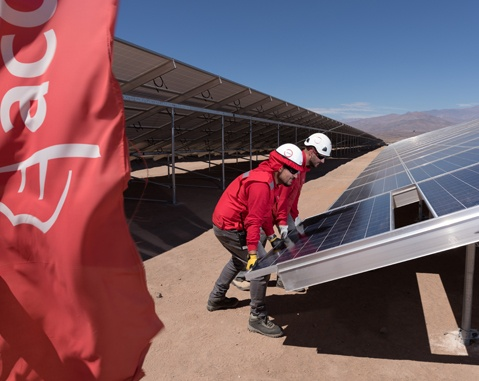 ACCIONA begins the start-up  of the biggest photovoltaic plant in Latin america, in Atacama (Chile)