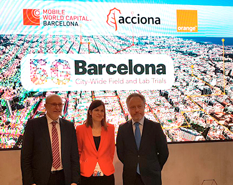 ACCIONA, Mobile World Capital Barcelona y Orange promueven el uso de redes 5G en proyectos industriales