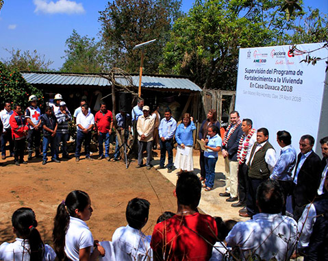 """EncASa"" programme brings electricity, water, sanitation and safe cookers to isolated households in Oaxaca (Mexico)"