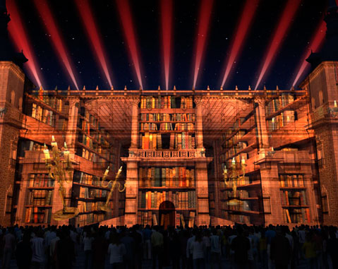 Audiovisual show by ACCIONA to use the façade of Toledo's Alcazar fortress as a giant screen
