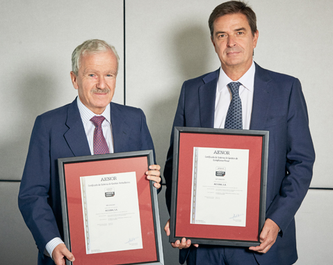 ACCIONA obtains dual certification from AENOR in  anti-bribery management systems and criminal law compliance