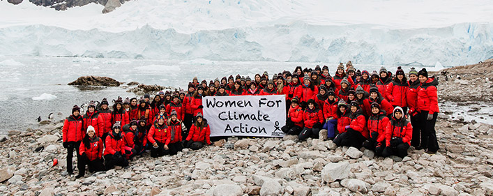 Female leadership against climate change
