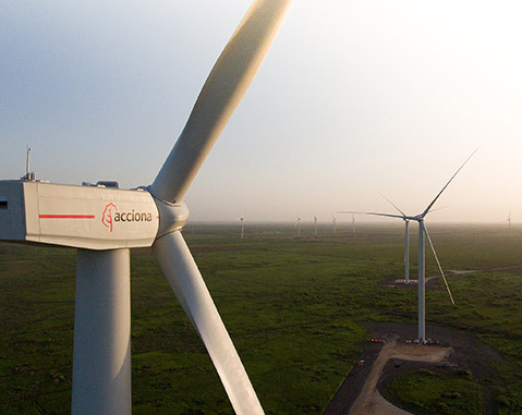 ACCIONA begins work on its ninth U.S. wind farm in Texas, with an investment of 176 million euros