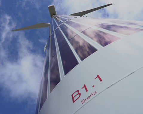 ACCIONA, a pioneer in the hybridization of solar panels with wind power towers