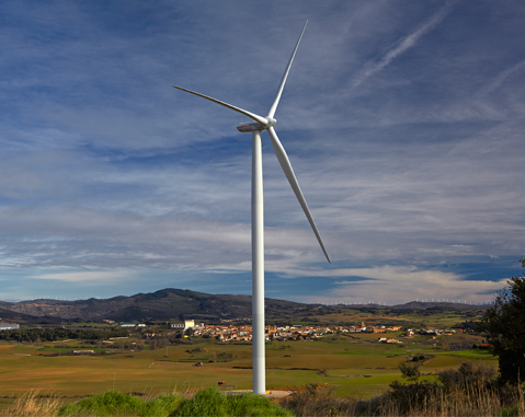 AEE Awards the prize for the Rural Integration of Wind Power to Barásoain, a locality in Navarra home to several ACCIONA facilities