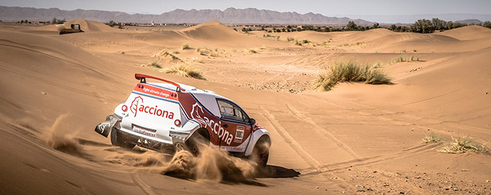 The ACCIONA 100% EcoPowered returns to compete in UAE desert rally