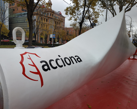 ACCIONA donates wind turbine blade to Madrid to celebrate COP25 climate summit