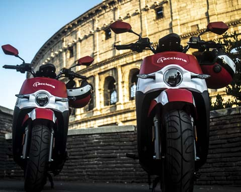 ACCIONA to triple its electric motorcycle fleet in Rome