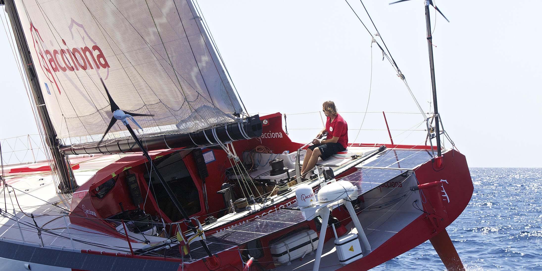 A Zero Emission Sailboat At The Vendee Globe Acciona Business As Unusual