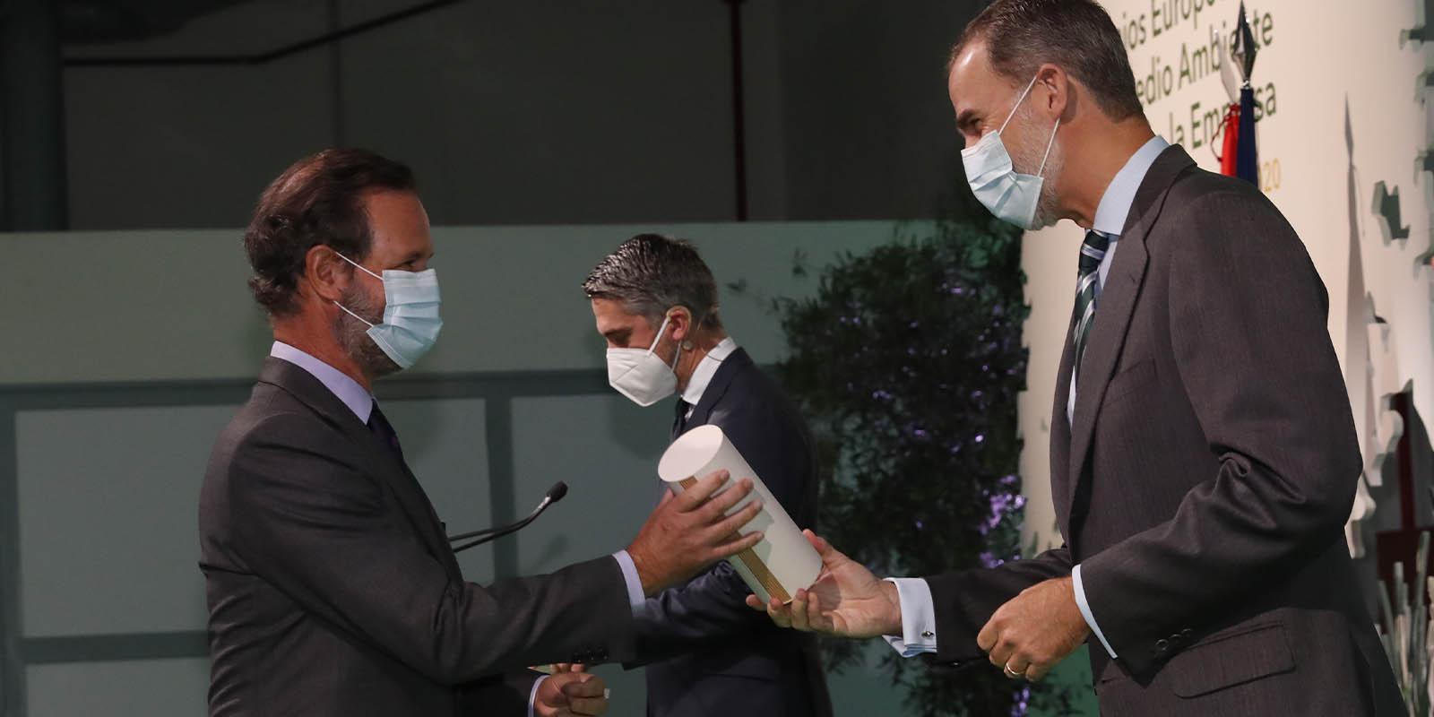 Juan Ignacio Entrecanales Recibe El Galardon De Manos De Felipe VI