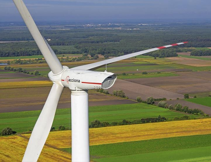 krobia wind farm of acciona leader green recovery