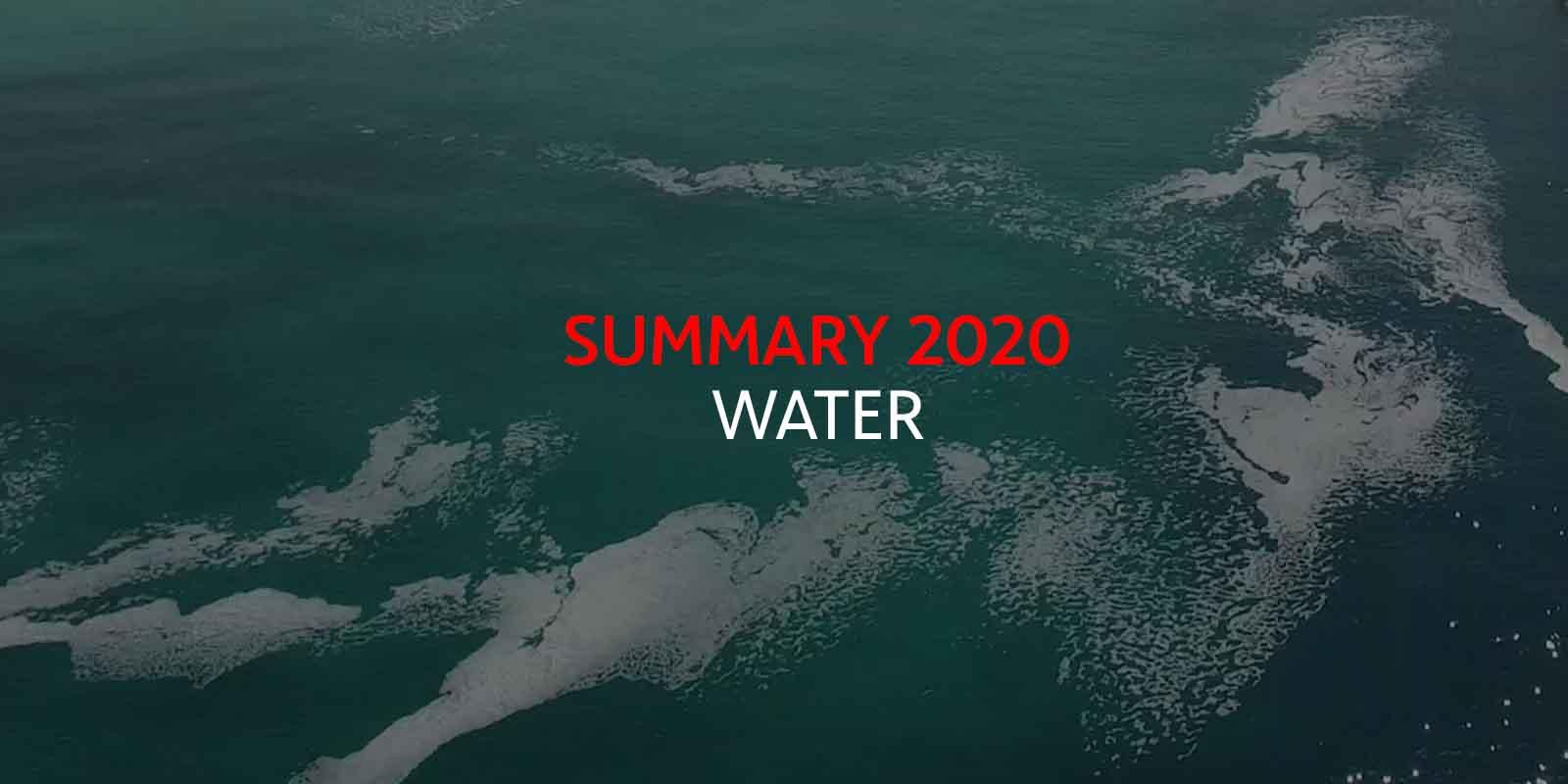 Water Summary year 2020